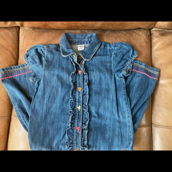 Gymboree girls dress size 12 denim - excellent